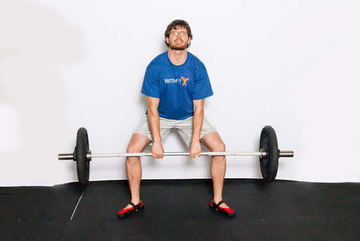 Begin to stand, as if performing a [Deadlift].