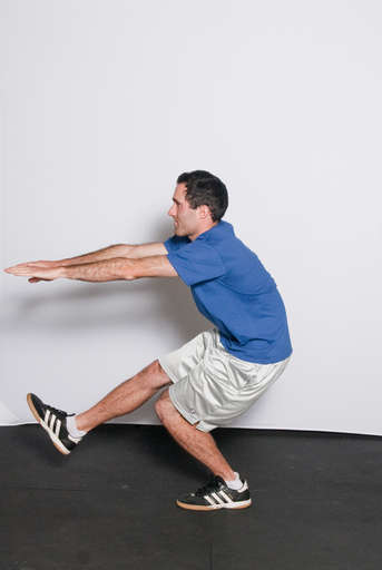 Straighten your left leg to push yourself back up to <2/position 2>.