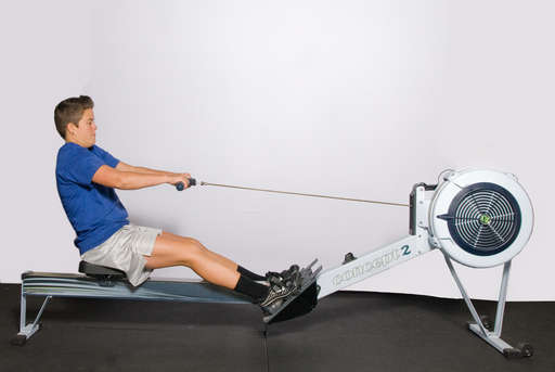 Extend your legs, pushing backwards.