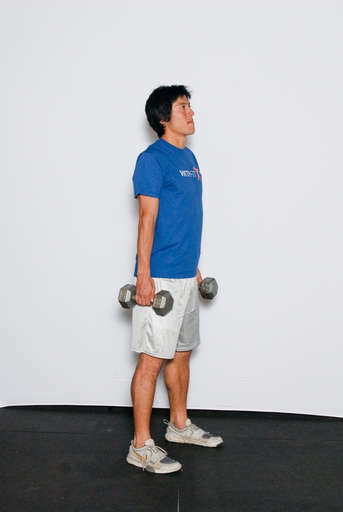 Lower your shoulders back down.