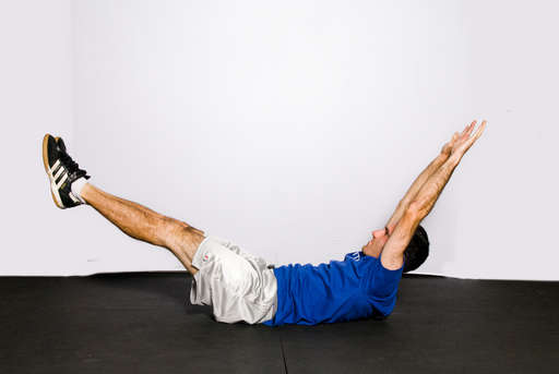 Return your upper body and legs back to the floor to <1/position 1>.