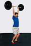 Catch the bar with your arms fully extended and you knees slightly bent.